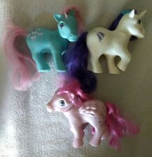 My Little Pony G1 Vintage Toy Lot, shooting star, white, teal, pink, wing heart