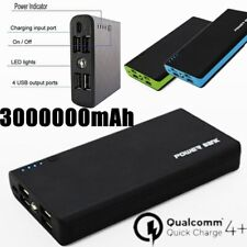 4 USB 3000000mAh Portable Backup External LED Power Bank Battery Pack Charger
