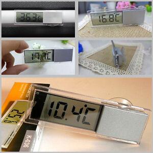 Car Windshield Transparent Thermometer ℉ Fahrenheit ℃ Celsius Temp Gauge Sucker