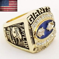 1990 New York Giants Super Bowl Championship Ring Size 8-14. Gold Plated Ring