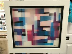 "Yaacov Agam Agamograph "" Hot Times "" Signed & Numbered Limited Edition Framed"
