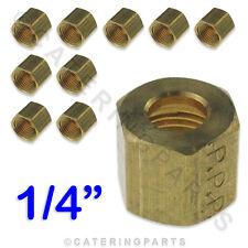 "10 Pacco di 1/4 ""TDC Imperial DADO IN OTTONE PER GAS PILOTA Tubing / rame tubo / tubo"