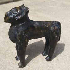 Old Nigeria Africa Benin Kingdom Bronze Standing Ram / Lost Wax Statue