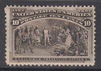 "USA MINT OG Scott #237  10 cent black brown ""Columbian Exposition"""