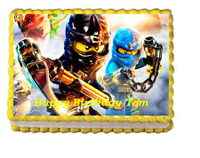 Ninjago Edible Cake Topper Image Party Icing Decoration Image  frosting sheet