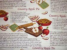 El aclaramiento FQ pastel de manzana cocina para hornear receta Tela de país granja Kitsch Cookin