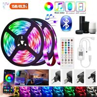 Bluetooth LED Strip Lights 50ft Music Sync Color Changing Lights with Remote New