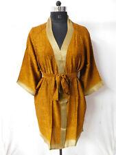 Vintage Nighty Silk Sari Short Kimono Women's Dressing Gown Intimates Sleepwear