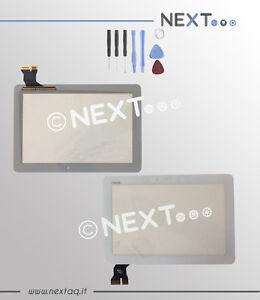 """Touch screen per schermo Asus Memopad 10"""" ME103 ME103c ME103k bianco + kit"""