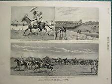 1883 VICTORIAN PRINT ~ REBELLION THE SOUDAN EXPEDITION KORDOFAN TROOPS ARMY