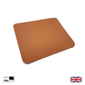 Mouse Mat Pad Tan PU Leather Computer Mousemat Gaming Office