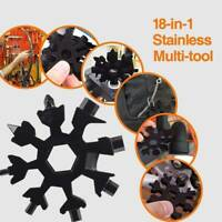 18 In1 Stainless Steel Multi Tool Portable Snowflake Design KeyChain Screwdriver