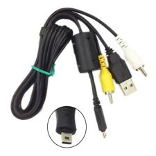 3in1 USB Charger Data + AV TV Cable For Sony Cybershot DSC-W810 DSC-W830 Camera