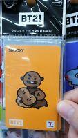 BTS BT21 T-Money card Shooky Sealed OFFICIAL KOREA TRANSPORTATION CARD