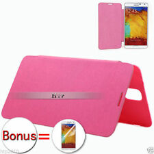 Pink Ultra Slim Leather Flip Case Cover For Samsung Galaxy Note 3 + Film  AU