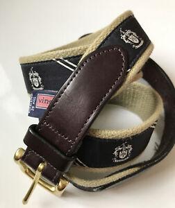 Trump Golf Club Vineyard Vines Men's Leather-Tab Belt Size 42 Khaki/black Rare