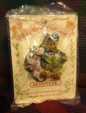 Boyds Bears Floral Collection stickpin Bearwear teddy bear Iris Flowers Nwt