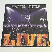 """Twisted Sister 12"""" X 12"""" POSTER LIVE AT THE HAMMERSMITH ODEON LONDON NEW"""