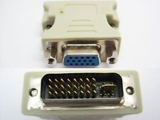 DVI-I Male (24+5) to VGA Female (15-Pin) Connector Analog Adapter Dual Link New