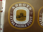 VINTAGE AUS BEER LABEL. CARLTON & UNITED - ABBOTS EXTRA DOUBLE STOUT 750ML 3DS