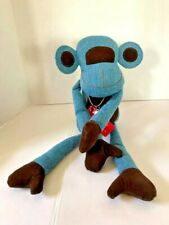 Monica Richards of London Doorbanger Doorstop MONKEY Blue and Brown MCM DESIGN