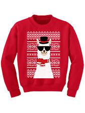 Ugly Xmas Sweater for Boys Girls Kids Youth Christmas Llama Sweatshirt