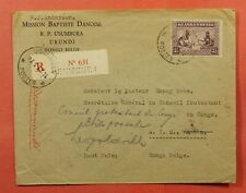 1933 Ruanda-Urundi Usumbura Registered To Belgian Congo Forwarded