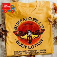 Buffalo Bill's Body Lotion T-Shirt It Rubs The Lotions On Its Skin T Shirt Gold