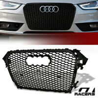 For 2013-2016 Audi A4 S4 B8.5 Black RS Sport Honeycomb Mesh Bumper Grill Grille