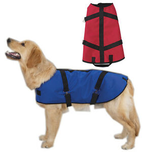 Dog Coat Jacket Ripstop Blanket Style Nylon Shell Berber Lining