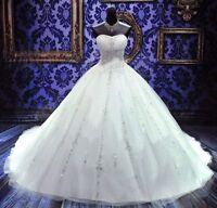 New White/Ivory Wedding dress Bridal gown Custom Size 2-4-6-8-10-12-14-16-18++