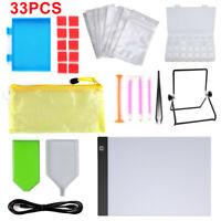 33Pcs 5D DIY Diamond Painting Accessories Cross Stitch Tool Set Embroidery Kit *
