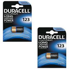 2 Pack of 1x Duracell CR123A 3V ULTRA LITHIUM CAMERA BATTERY DLCR123 CR17345