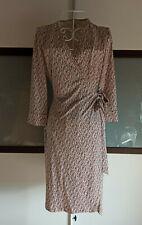 Diane von Furstenberg DvF Wickelkleid Größe 8 (36/38) Julian rosa braun beige