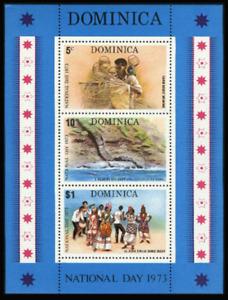 Dominica - 1973 - Sc 385a - National Day Souvenir Sheet VF MNH