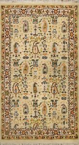 Paisley Traditional Tebriz Oriental Area Rug Hand-knotted Wool Foyer Carpet 4x6