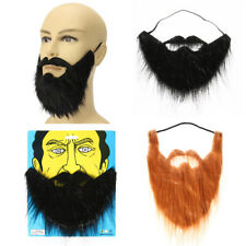Funny Party Halloween Costume Fancy Dress Fake Beard Facial Hair Moustache Wig