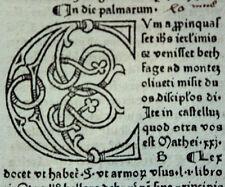 GRITSCH QUADRAGESIMALE INKUNABELBLATT MIT GROSSER C-INITIALE ZAINER ULM 1476
