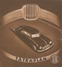 Tatra Tatraplan (Tatra 600) Originalprospekt, ca. 1950