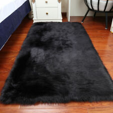 Rectangle Faux Fur Rug Sheepskin Bedroom Mat Large Balcony Large Carpet Washable