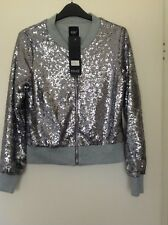 Womens silver sequin jacket size 12 by blinQ