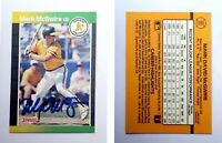 Mark McGwire Signed 1989 Donruss #95 Card Oakland Athletics Auto Autograph