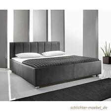 MYLIFE Polsterbett Kunstlederbett Designbett Bett Futonbett 140x200 - Schwarz