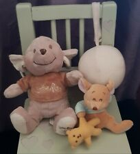 """DISNEY WINNIE POOH LITTLE ROO 9"""" MUSICAL SOFT TOY PULL STRING DISNEY BABY MOBILE"""