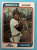 1974 Topps Baseball Card #50 Rod Carew Minnesota Twins HOFer
