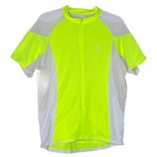 Pearl Izumi Men's Neon Yellow and White Cycling Jersey Shirt – XL