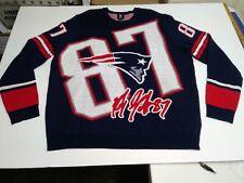 SIZE 2XL- NFL Men New England Patriots Rob Gronkowski #87 Loud Player Sweater