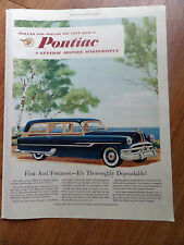 1953 Pontiac Ad  Station Wagon  1st & Foremost It's Thoroughly Dependable