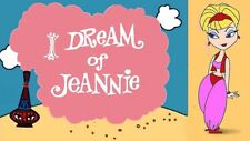 1960s TV I Dream of Jeannie cartoon opening fridge magnet - new!