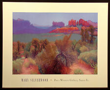 Mary Silverwood Post Western Gallery Santa Fe NM 1993 Vintage Art Show Poster